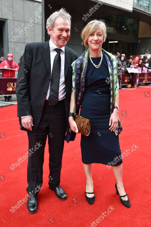 Olivier Theatre Awards at the Royal Opera House - Special Access Red Carpet Pre-show Reception and Auditorium Paul Copley with His Wife Natasha Pyne