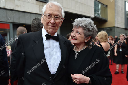 Olivier Theatre Awards at the Royal Opera House - Special Access Red Carpet Pre-show Reception and Auditorium Julia Mckenzie with Her Husband Jerry Harte