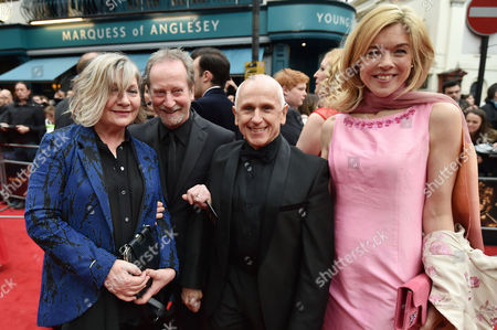 Olivier Theatre Awards at the Royal Opera House - Special Access Red Carpet Pre-show Reception and Auditorium Bill Paterson with His Wife Hildegard Bechtler and Wayne Sleep with Janie Dee