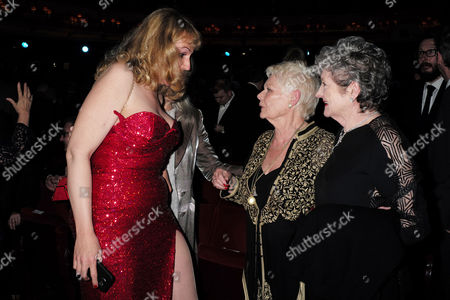 Olivier Theatre Awards at the Royal Opera House - Special Access Red Carpet Pre-show Reception and Auditorium Simone Peterson Dame Judi Dench and Julia Mckenzie