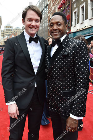Olivier Theatre Awards at the Royal Opera House - Special Access Red Carpet Pre-show Reception and Auditorium Matt Henry and Killian Donnelly