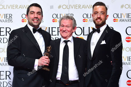 2016 Olivier Awards at the Royal Opera House - Press Room Tristan Baker and Paul Taylor Mills (autograph Sound Award For Outstanding Achievement in Music For 'In the Heights') Presented by Paul Copley (c)