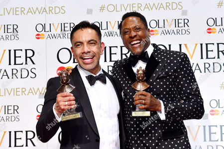 2016 Olivier Awards at the Royal Opera House - Press Room David Bedella (best Actor in A Supporting Role in A Musical For 'In the Heights') and Matt Henry (best Actor in A Musical 'Kinky Boots')