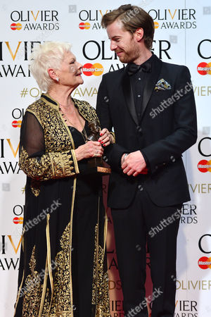 Stock Image of 2016 Olivier Awards at the Royal Opera House - Press Room Dame Judi Dench (best Actress in A Supporting Role 'The Winter's Tale') Presented by Luke Treadway