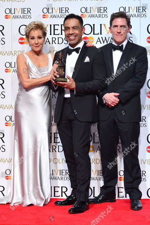 2016 Olivier Awards at the Royal Opera House - Press Room David Bedella (best Actor in A Musical 'In the Heights') Presented by Zoe Wanamaker and Rob Brydon