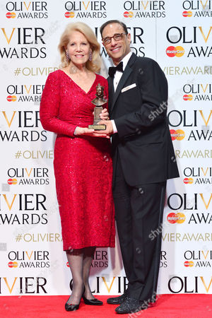 2016 Olivier Awards at the Royal Opera House - Press Room Producers Hal Luftig and Daryl Roth (best New Musical 'Kinky Boots')