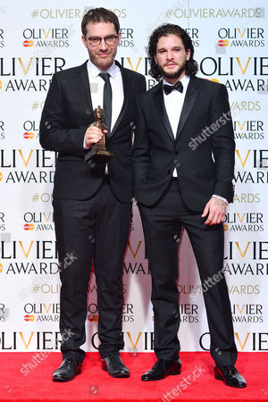 2016 Olivier Awards at the Royal Opera House - Press Room Robert Icke (best Director 'Oresteia') Presented by Kit Harington