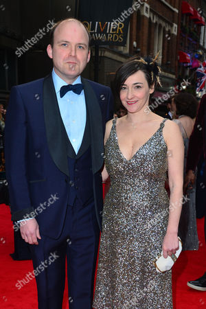 Olivier Awards Red Carpet Arrivals at the Royal Opera House Rory Kinnear with His Partner Pandora Colin