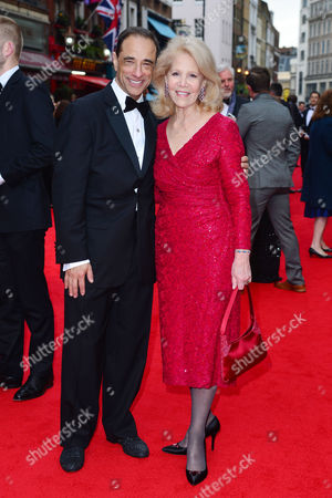 Olivier Awards Red Carpet Arrivals at the Royal Opera House Producers Hal Luftig and Daryl Roth