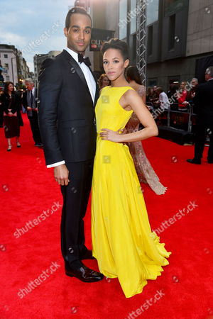 Olivier Awards Red Carpet Arrivals at the Royal Opera House Joe Aaron Reid and Lily Frazer (in the Heights)