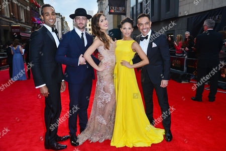 Olivier Awards Red Carpet Arrivals at the Royal Opera House Joe Aaron Reid Sam Mackay Christine Allado Lily Frazer and David Bedella (in the Heights)