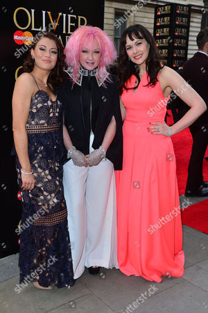 Olivier Awards Red Carpet Arrivals at the Royal Opera House Emma Hatton Cyndi Lauper and Savannah Stevenson