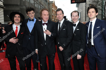 Laurence Olivier Theatre Awards 2015 Arrivals at the Royal Opera House George Maguire John Dalgleish Ray Davies Joe Penhall Adam Sopp and Ned Derrington 'Sunny Afternoon'