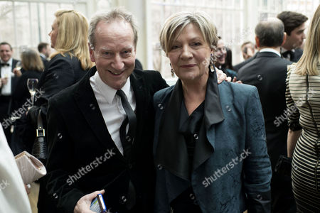 Olivier Theatre Awards Reception at the Royal Opera House Bill Paterson with His Wife Hildegard Bechtler