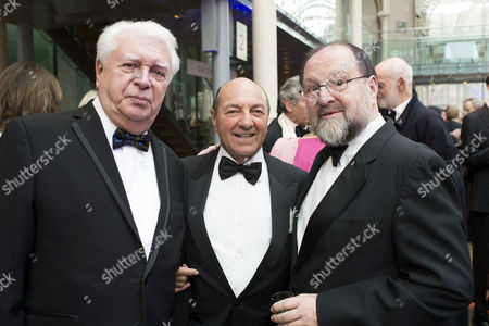 Olivier Theatre Awards Reception at the Royal Opera House Paul Elliott Arnold Crook and Duncan Weldon