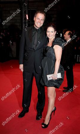 Orange 2010 British Academy Film Awards Arrivals at the Royal Opera House Covent Garden Peter Jones (dragons Den) with His Partner Tara Capp