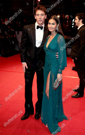 Orange 2010 British Academy Film Awards Arrivals at the Royal Opera House Covent Garden Jonathan Rhys Meyers with His Girlfriend Reena Hammer