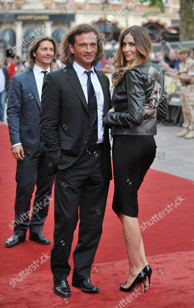 Outside Arrivals For the Uk Premiere For 'The Expendables' at the Odeon Leicester Square Manuele Malenotti and Lisa Snowdon