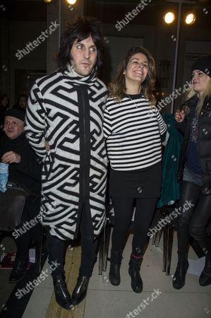 Pam Hogg Fashion Show at Fashion Scout Freemasons' Hall During Aw2015 London Fashion Week Front Row - Noel Fielding with His Girlfriend Lliana Bird