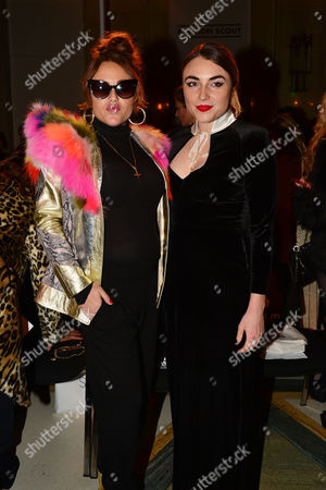 Pam Hogg Front Row Fashion Show During London Fashion Week Ss16 at Vauxhall Fashion Scout Jaime Winstone with Her Sister Lois Winstone