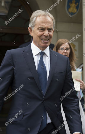 Stock Image of Philip Gould Memorial Lecture Given by Tony Blair at Church House Westminster Tony Blair