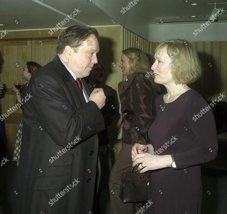 Stock Picture of Poetry Hour at the British Library Lord Cranborne and Poetry Reader Lindsay Duncan