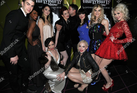 Press Night For 'The Hulry Burly Show' at the Pigalle Club Piccadilly the Cast with Miss Polly Rae and William Baker