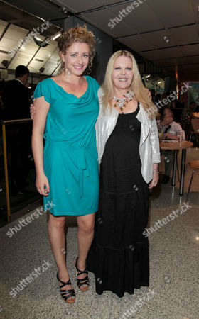 Press Night For 'The Railway Children' at the Old Eurostar Platform Waterloo Station Sally Thomsett (phyllis From the 1970's Film) and Louisa Clein (phyllis in the Stage Production)