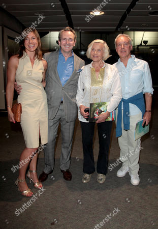 Press Night For 'The Railway Children' at the Old Eurostar Platform Waterloo Station Charlie and Claire Burnell with Honor Blackman and Nickolas Grace