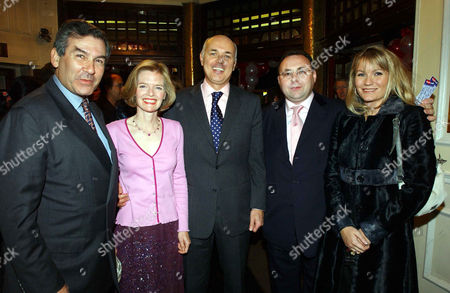 Press Night For 'Thoroughly Modern Millie' at the Shaftesbury Theatre and Afterparty at the Waldorf Hilton Hotel Sir Stephen Waley-cohen Iain Duncan Smith with His Wife Betsy and Georgea Blakey and Jonathan Shalit