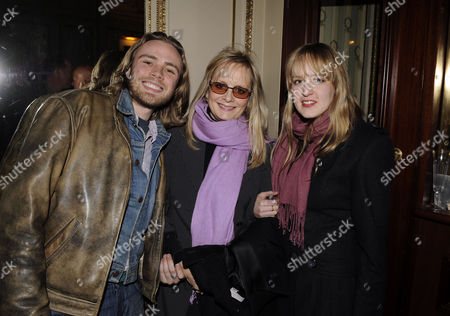Press Night of 'The God of Carnage' at the Gielgud Theatre Shaftsbury Aveune Twiggy Lawson with Her Stepson Jason Ace Lawson and Daughter Carly Witney