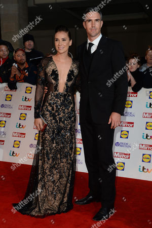Pride of Britain Awards Arrivals at the Grosvenor House Hotel Kevin Pietersen with His Wife Jessica Taylor