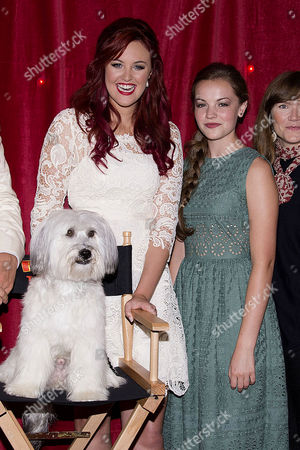 Pudsey the Dog: the Movie World Premiere at the Vue Leicester Square Ashleigh Butler and Pudsey the Dog with Izzy Meikle-small