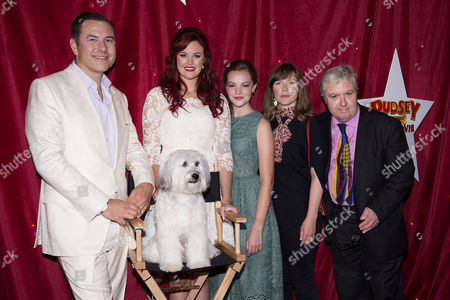 Pudsey the Dog: the Movie World Premiere at the Vue Leicester Square Ashleigh Butler and Pudsey the Dog with David Walliams Izzy Meikle-small Jessica Hynes and John Sessions