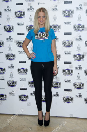 Stock Photo of Pure Rally Photocall at the Millennium Hotel Grosvenor Square Holly Eriksson