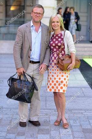 Royal Academy of Arts Summer Preview Piccadilly Mariella Frostrup with Her Husband Jason Mccue