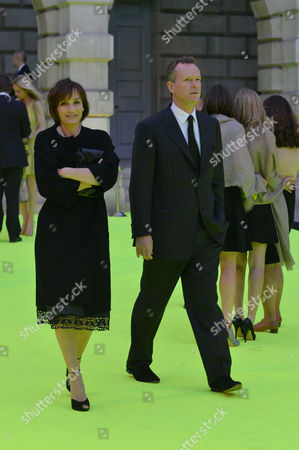 Royal Academy of Arts Summer Preview Piccadilly Kristin Scott Thomas and Partner Edward St Aubyn