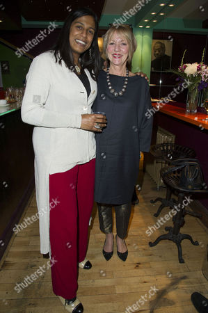 Red Velvet Director's Party at the Tricycle Theatre Lolita Chakrabarti and Trudie Goodwin