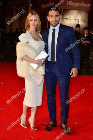 'Ronaldo' World Premiere at Vue Leicester Square Radamel Falcao with His Wife Lorelei Taron