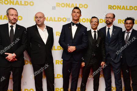 'Ronaldo' World Premiere at Vue Leicester Square Anthony Wonke Paul Martin Cristiano Ronaldo Jorge Mendes James Gay-rees and Asif Kapadia
