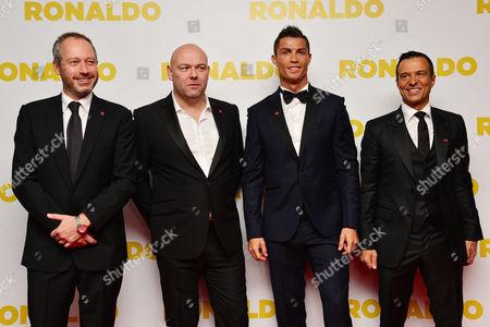 'Ronaldo' World Premiere at Vue Leicester Square Anthony Wonke Paul Martin Cristiano Ronaldo Jorge Mendes