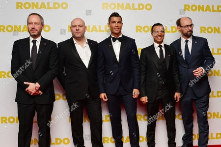 'Ronaldo' World Premiere at Vue Leicester Square Anthony Wonke Paul Martin Cristiano Ronaldo Jorge Mendes and James Gay-rees