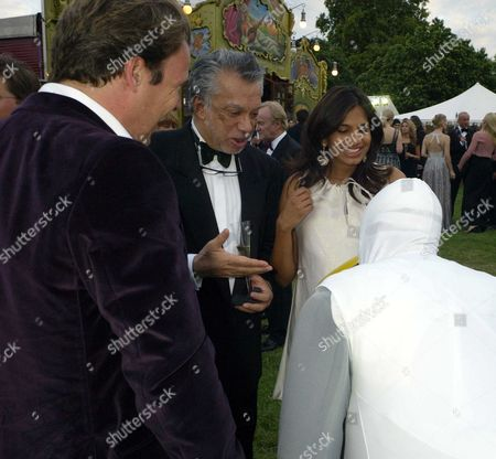 Royal Parks Foundation Gala at the Serpentine Lido Hyde Park Joel and Divia Cadbury with Her Father Gulu Lalvani (l)