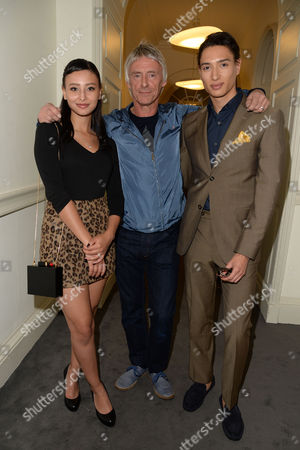 Rsar Launch Party at Somerset House Paul Weller with His Children Leah and Nat
