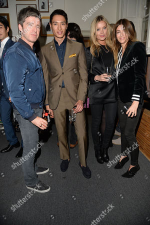 Rsar Launch Party at Somerset House Noel Gallagher with His Wife Sara Macdonald Nat Weller and Laura Whitmore