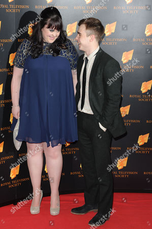 Royal Television Society Awards at the Grosvenor House Hotel Sharon Rooney and Nico Mirallegro (my Mad Fat Diary)