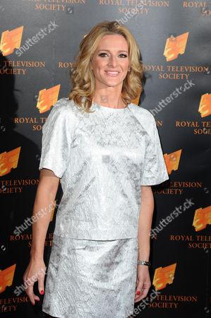 Stock Image of Royal Television Society Awards at the Grosvenor House Hotel Gaby Logan
