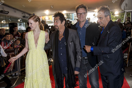 Salome/wilde Salome Premiere at the Bfi Southbank Jessica Chastain Al Pacino and Producers Robert Fox and Barry Navidi