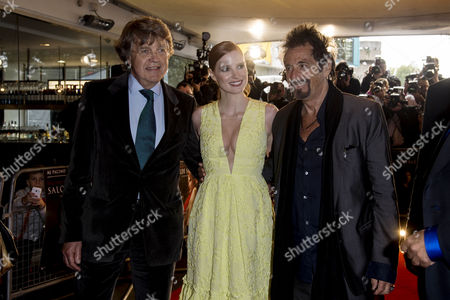 Salome/wilde Salome Premiere at the Bfi Southbank Merlin Holland (grandson of Oscar Wilde) Jessica Chastain and Al Pacino