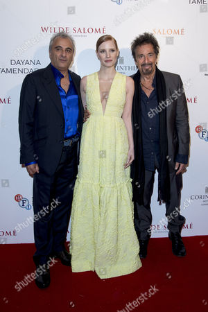 Stock Photo of Salome/wilde Salome Premiere at the Bfi Southbank Producer Barry Navidi with Jessica Chastain and Al Pacino
